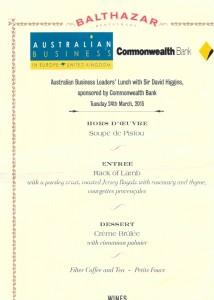 Australian Business Leaders Lunch